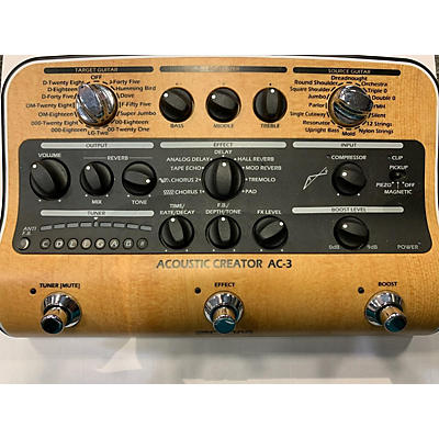 Zoom AC-3 Acoustic Creator Multi Effects Processor