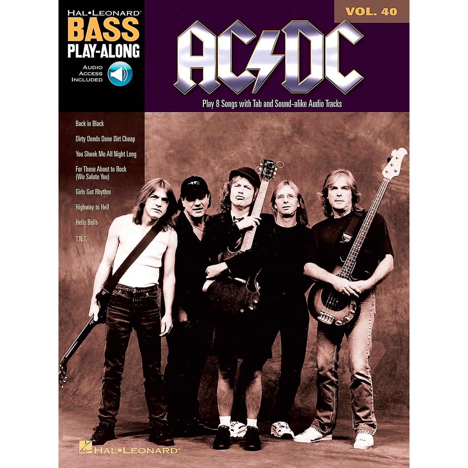 Music Sales AC/DC - Bass Play-Along Volume 40 (Book/CD)