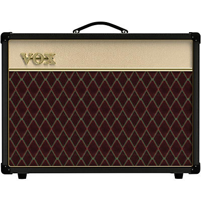 Vox AC15C1 Limited Black & Tan 15W 1x12 Tube Guitar Combo Amp With Creamback and JJ Tubes