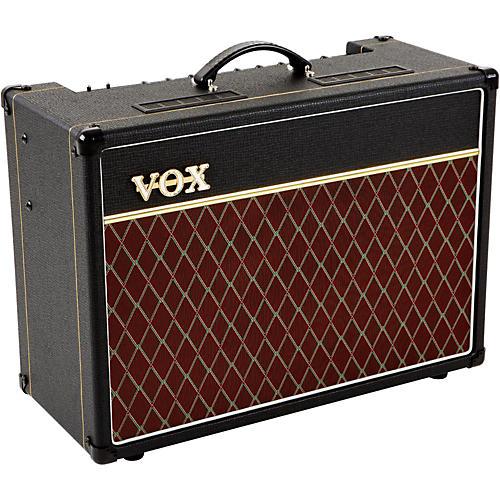 vox ac15c1x 15w 1x12 tube guitar combo amp black musician 39 s friend. Black Bedroom Furniture Sets. Home Design Ideas