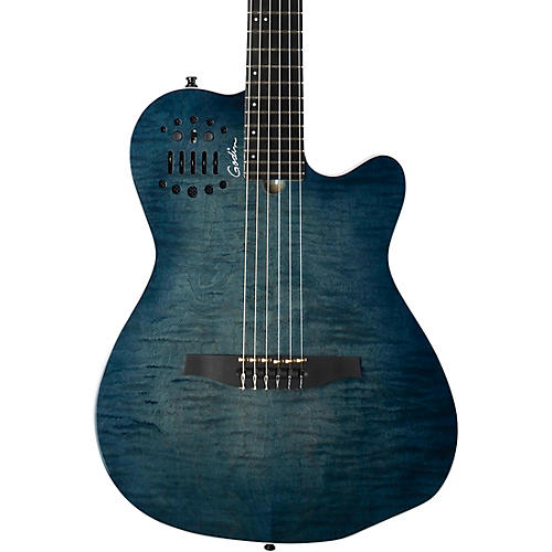godin acs denim blue acoustic electric guitar blue musician 39 s friend. Black Bedroom Furniture Sets. Home Design Ideas