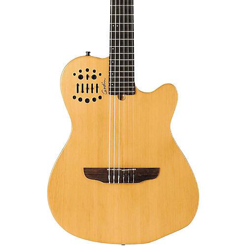 open box godin acs sa nylon string cedar top acoustic electric guitar semi gloss natural. Black Bedroom Furniture Sets. Home Design Ideas