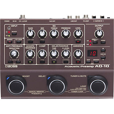 Boss AD-10 Acoustic Guitar Multi-Effects Pedal