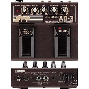 boss ad 3 acoustic guitar multi effects pedal musician 39 s friend. Black Bedroom Furniture Sets. Home Design Ideas
