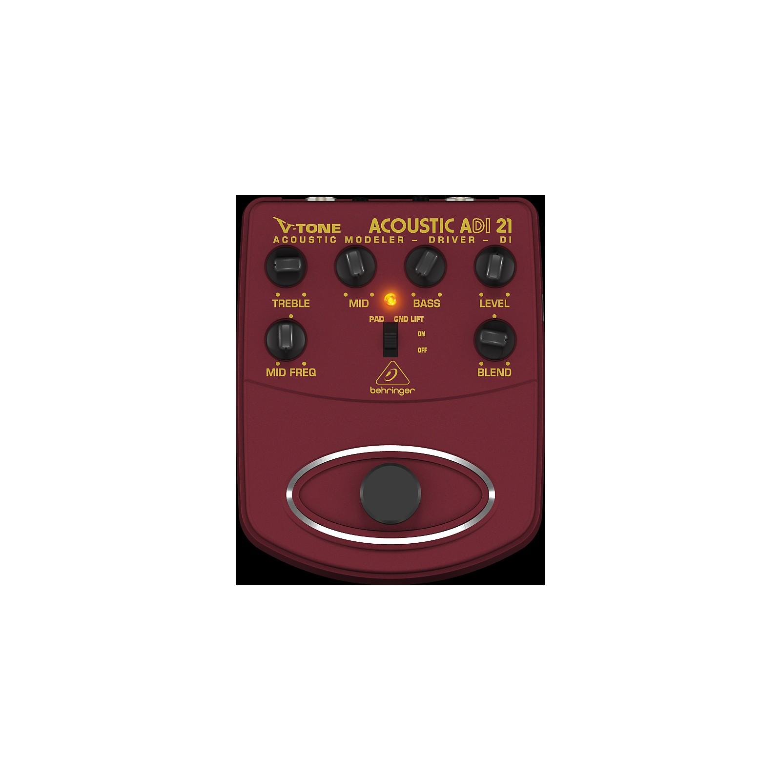 Behringer ADI21 V-Tone Acoustic Driver Direct Recording Preamp/DI Box