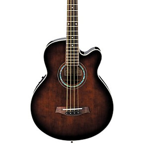 ibanez aeb10e acoustic electric bass guitar with onboard tuner dark violin sunburst musician 39 s. Black Bedroom Furniture Sets. Home Design Ideas