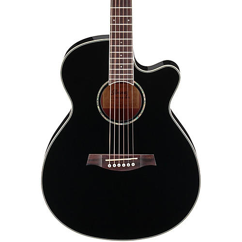ibanez aeg10ii cutaway acoustic electric guitar black musician 39 s friend. Black Bedroom Furniture Sets. Home Design Ideas
