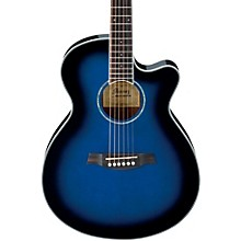 AEG10II Cutaway Acoustic-Electric Guitar Transparent Blue Burst