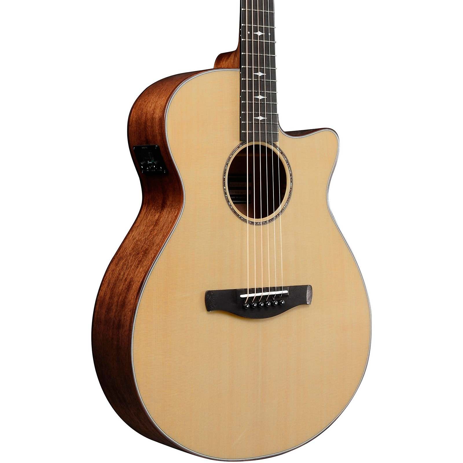 Ibanez AEG200 Solid Top Grand Concert Acoustic-Electric Guitar