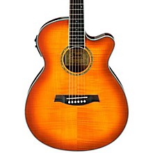 Open Box Ibanez AEG20II Flamed Sycamore Top Cutaway Acoustic-Electric Guitar