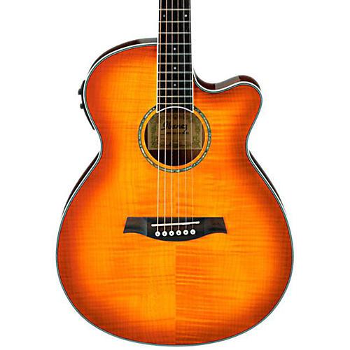 ibanez aeg20ii flamed sycamore top cutaway acoustic electric guitar vintage violin musician 39 s. Black Bedroom Furniture Sets. Home Design Ideas