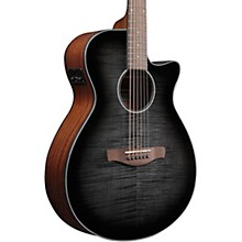 Open BoxIbanez AEG70 Flamed Maple Top Grand Concert Acoustic-Electric Guitar