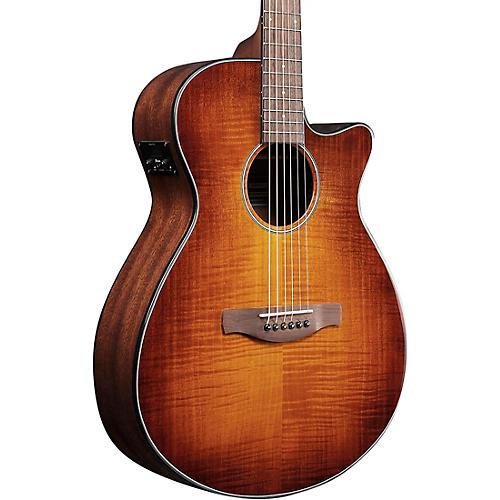 Ibanez AEG70 Flamed Maple Top Grand Concert Acoustic-Electric Guitar Violin Burst