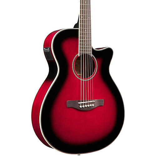 Ibanez AEG8E Cutaway Acoustic-Electric Guitar Transparent Red Sunburst