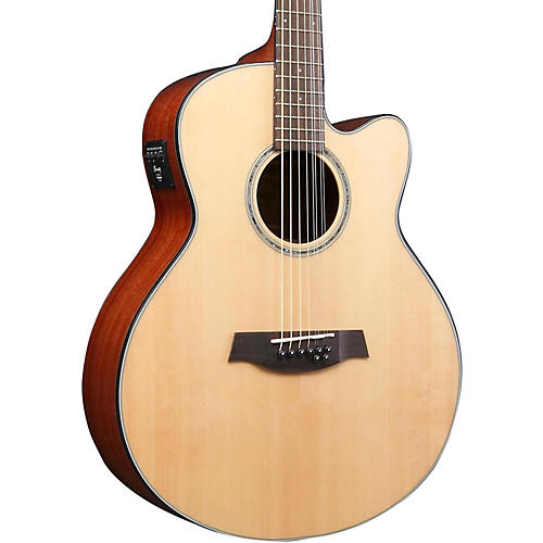 Ibanez AEL108TD-NT 8-String (Double E&B) Acoustic-Electric Guitar