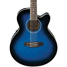 Open Box Ibanez AEL152ETBS 12-String Cutaway Acoustic-Electric Guitar