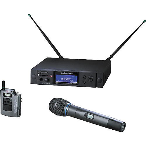Audio-Technica AEW-4313 Artist Elite Handheld Cardioid Condenser Mic and UniPak Wireless System