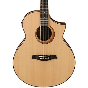 ibanez aew21vknt ovangkol exotic wood acoustic electric guitar musician 39 s friend. Black Bedroom Furniture Sets. Home Design Ideas