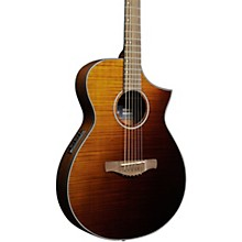 AEWC32FM Thinline Acoustic-Electric Guitar Amber Sunset Fade