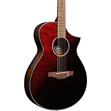 AEWC32FM Thinline Acoustic-Electric Guitar Transparent Red Sunburst