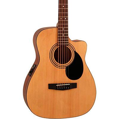 Cort AF515CEOP Standard Series Concert Cutaway Acoustic-Electric Guitar