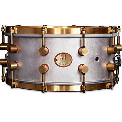 A&F Drum Co A&F'ers 14 x 4 in. Aluminum Snare with Untreaded Brass Hardware (Bell Series Snares)