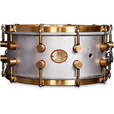 A&F Drum Co A&F'ers 14 x 6x5 in. Aluminum Snare with Untreaded Brass Hardware (Bell Series Snares)
