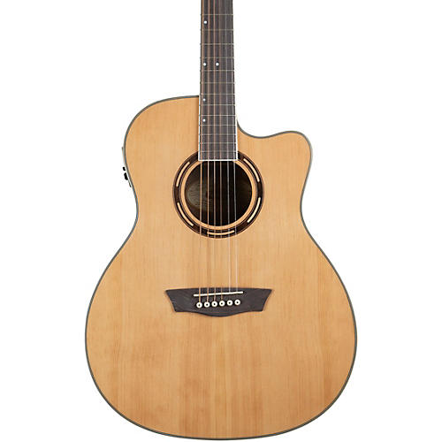 Washburn AG70CE Apprentice Series Grand Auditorium Cutaway Acoustic-Electric Guitar Natural