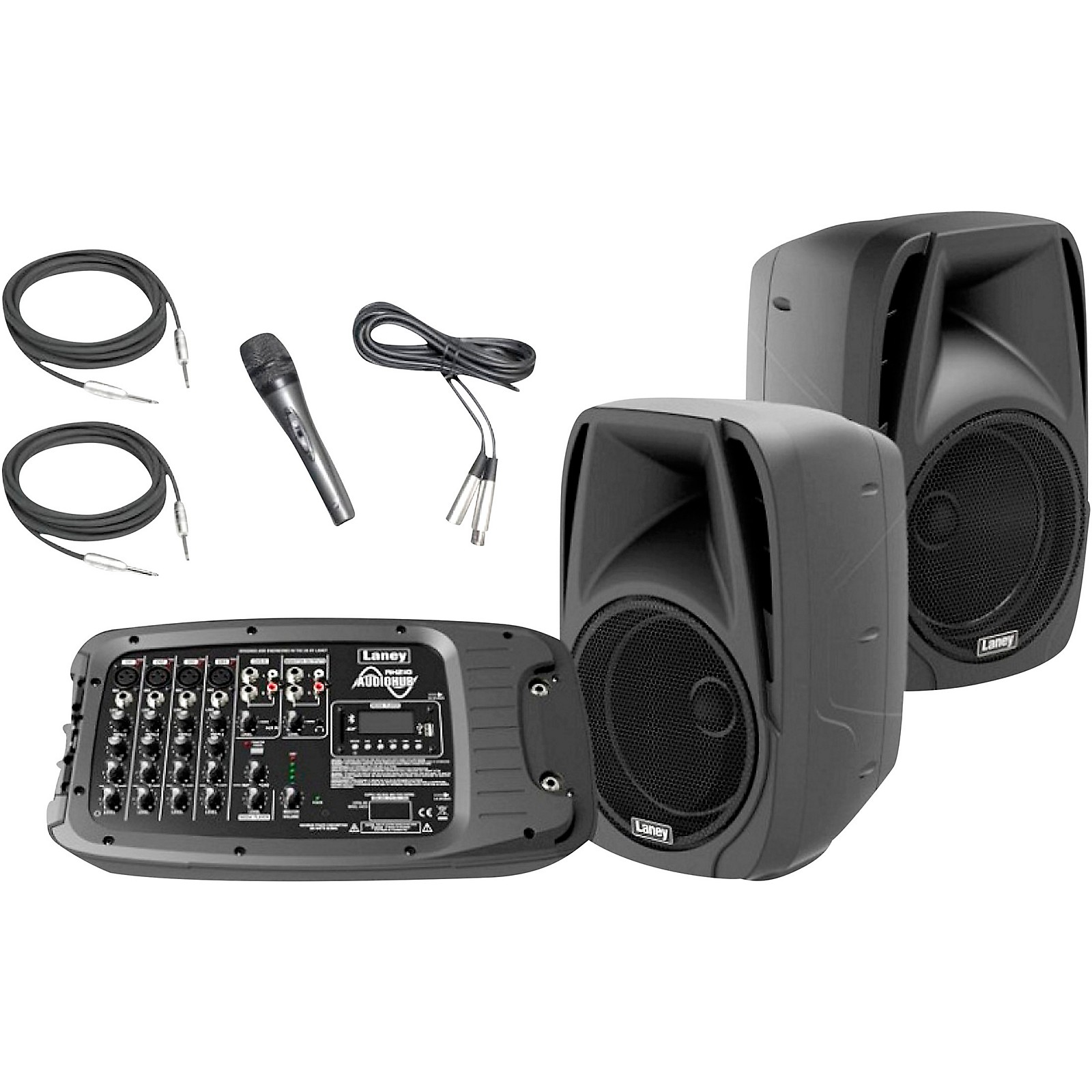 Laney AH210 Audiohub Venue PA System with Two 10