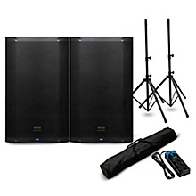 "PreSonus AIR15 15"" Powered Speaker Pair with Stands and Power Strip"