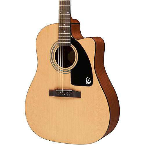 Epiphone Aj 100ce Acoustic Electric Guitar Natural Chrome Hardware