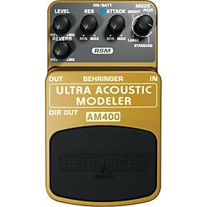 behringer am400 ultra acoustic modeler guitar modeling effects pedal musician 39 s friend. Black Bedroom Furniture Sets. Home Design Ideas