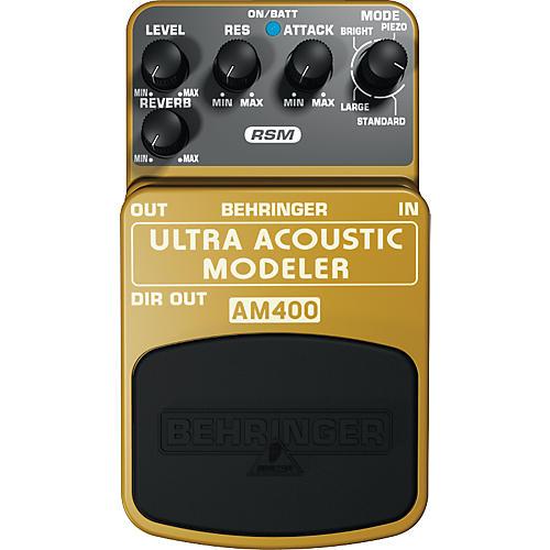 Behringer AM400 Ultra Acoustic Modeler Guitar Modeling Effects Pedal