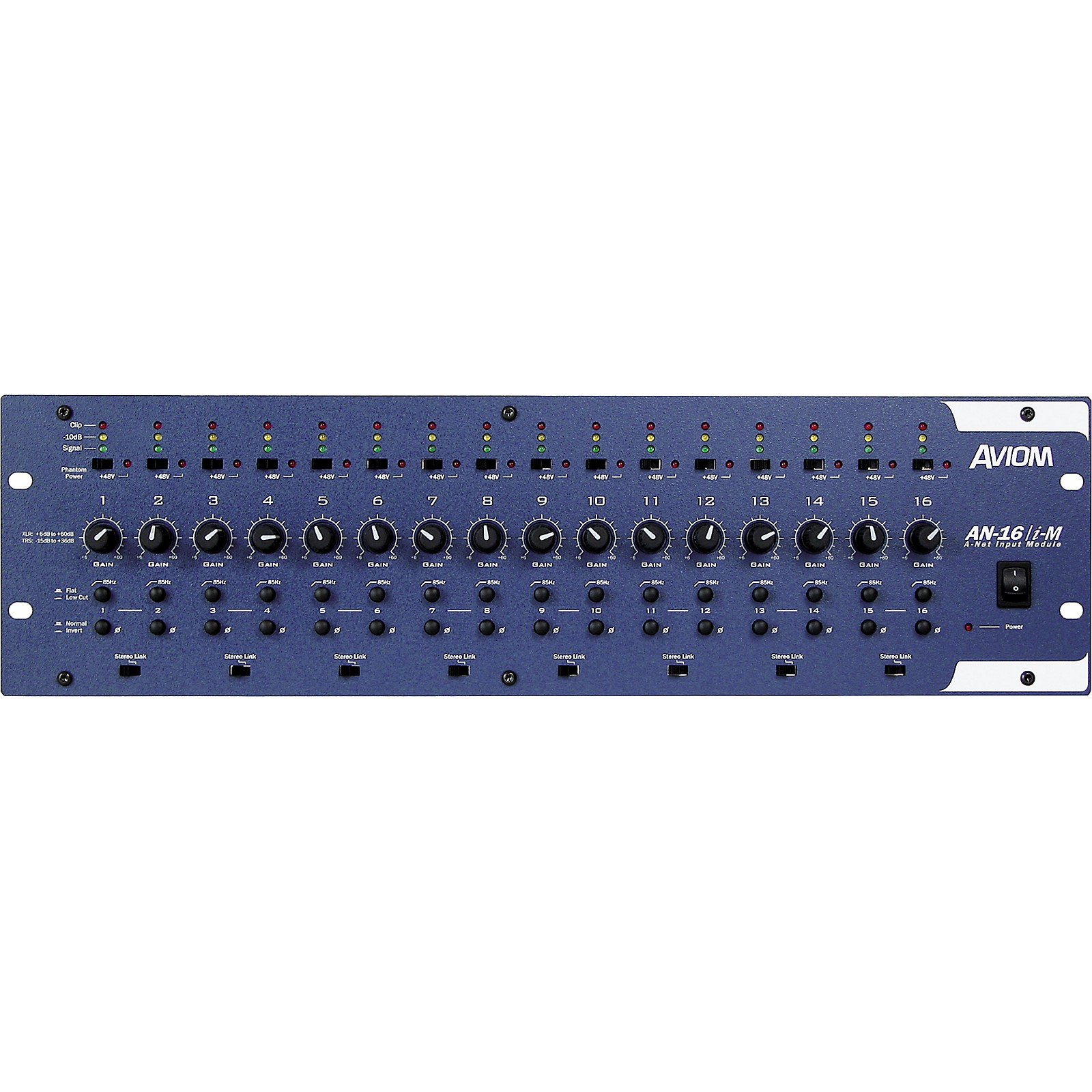 Aviom AN-16/i-M 16-Channel Mic and Line Level Input Module