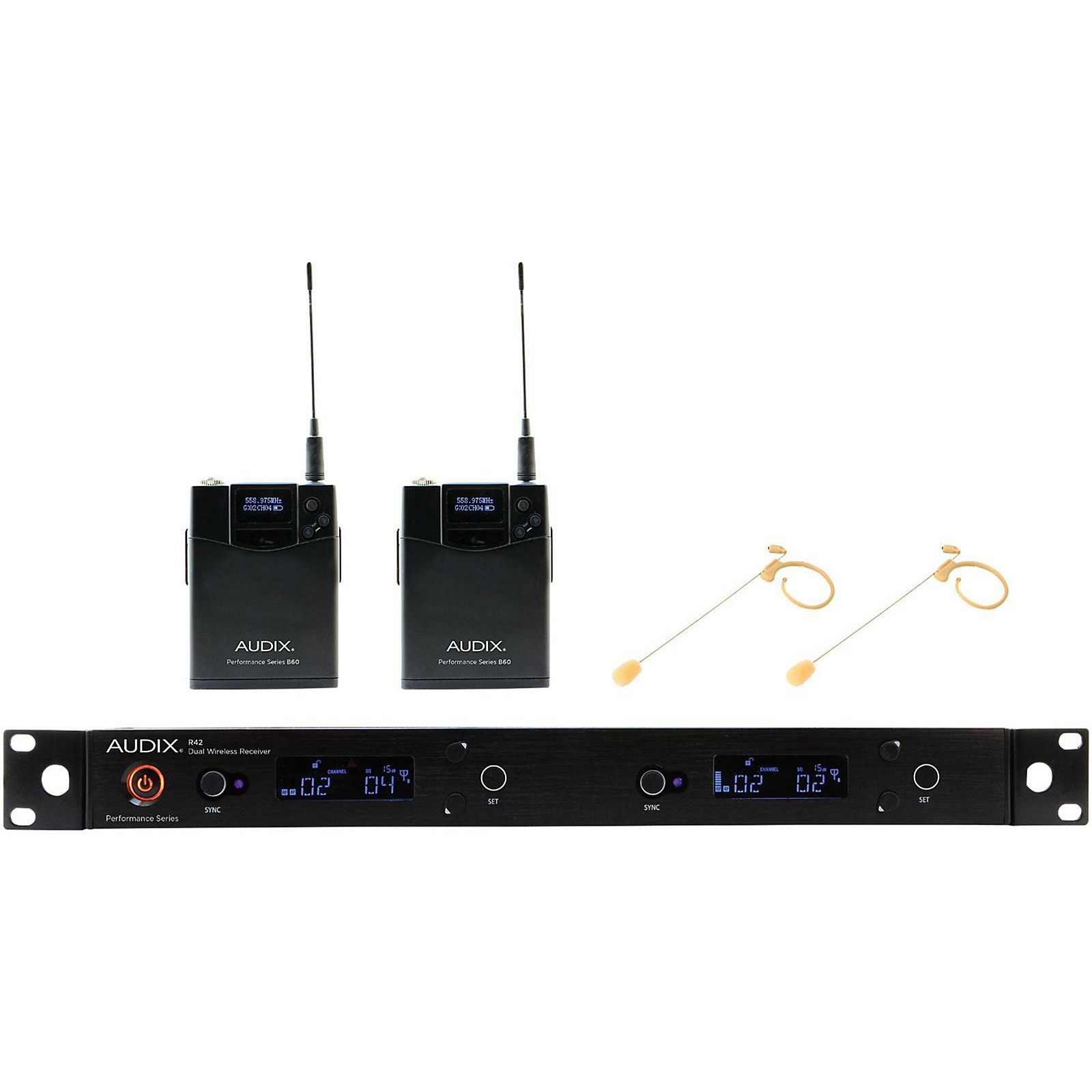 Audix AP42 HT7BG Dual Headset Wireless System - Beige Restock