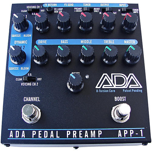 ada signal processors app 1 2 channel preamp guitar effects pedal with d torsion core effects. Black Bedroom Furniture Sets. Home Design Ideas