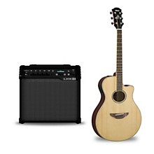 Yamaha APX600 Acoustic-Electric Guitar & Line 6 Spider V 30 Guitar Combo Amp