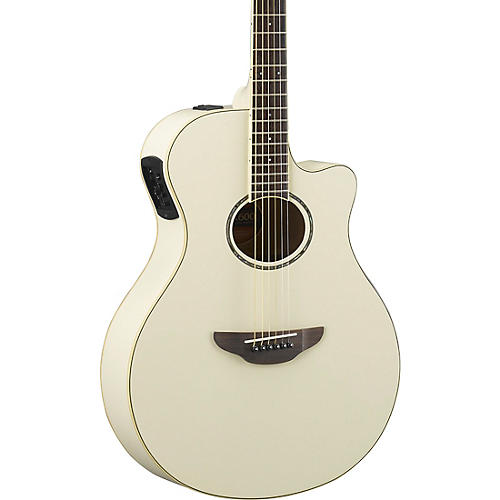 yamaha apx600 acoustic electric guitar vintage white musician 39 s friend. Black Bedroom Furniture Sets. Home Design Ideas