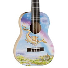 Luna Guitars AR2 NYL Auroura Dragon Guitar