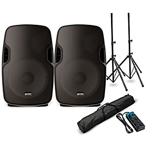 gemini as 08togo 8 powered bluetooth pa speaker pair and power strip musician 39 s friend. Black Bedroom Furniture Sets. Home Design Ideas