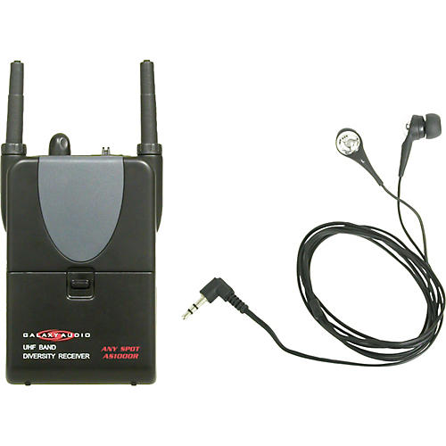Galaxy Audio AS-1000R Any Spot Wireless Receiver with In-Ear Personal Monitors