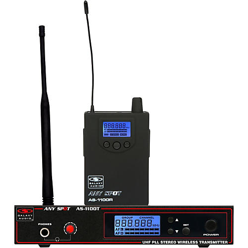 Galaxy Audio AS-1100 UHF Wireless Personal Monitor Condition 1 - Mint Band D