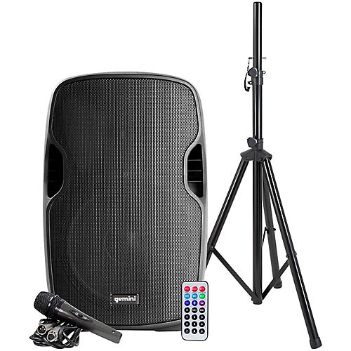 Gemini AS-12BLU-PK 12 in. Powered Bluetooth Speaker Package