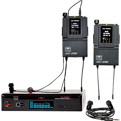 Galaxy Audio AS-1800-2 Wireless In-Ear Monitor Twin Pack System