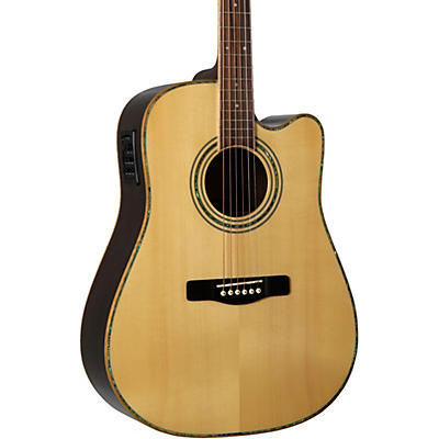 Greg Bennett Design by Samick ASDRCE Dreadnaught Cutaway Solid Spruce Top Acstc-Elec Guitar
