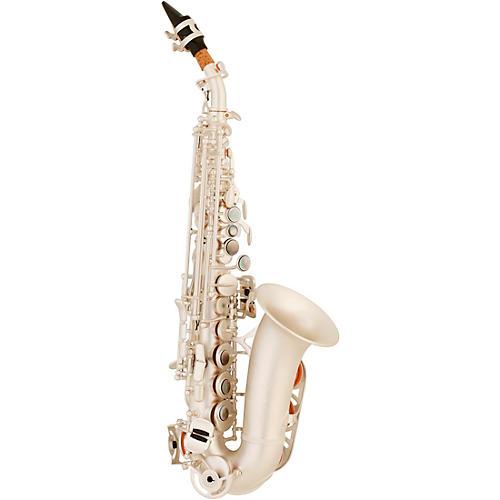 Allora ASPS-550 Paris Series Curved Soprano Sax Silver Matte Silver Matte Keys