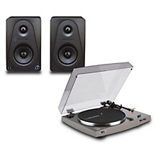 "Audio-Technica AT-LP2X Record Player with Sterling Audio 3"" Monitors"