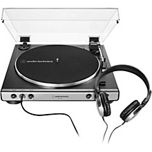 Open Box Audio-Technica AT-LP60XHP Package with AP-LP60X Turntable and Headphones
