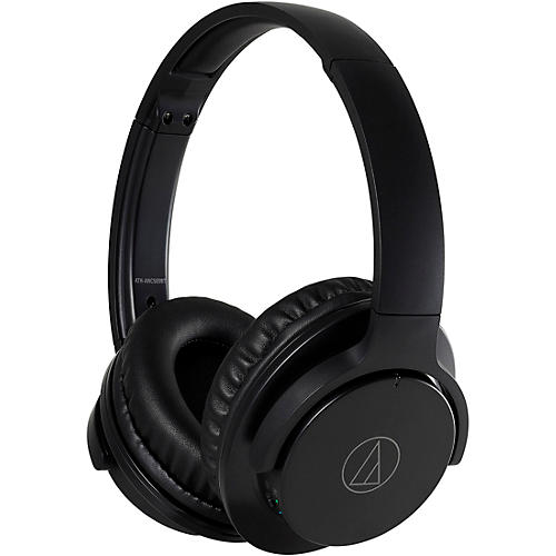 Audio-Technica ATH-ANC500BT QuietPoint Wireless Active Noise-Cancelling Headphones Black