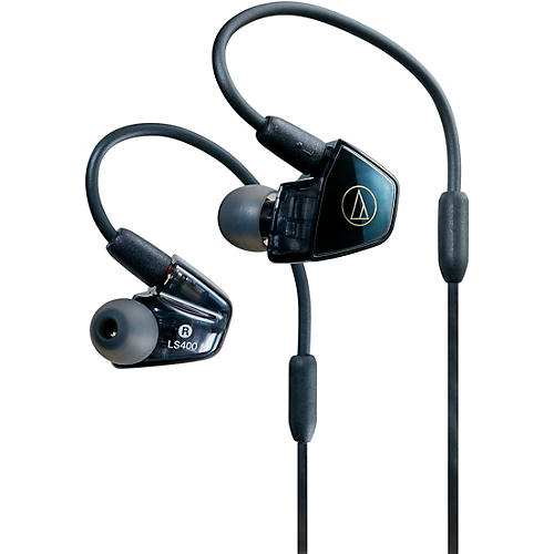 Audio-Technica ATH-LS400IS In-Ear Quad Armature Driver Headphones with In-line Mic & Control